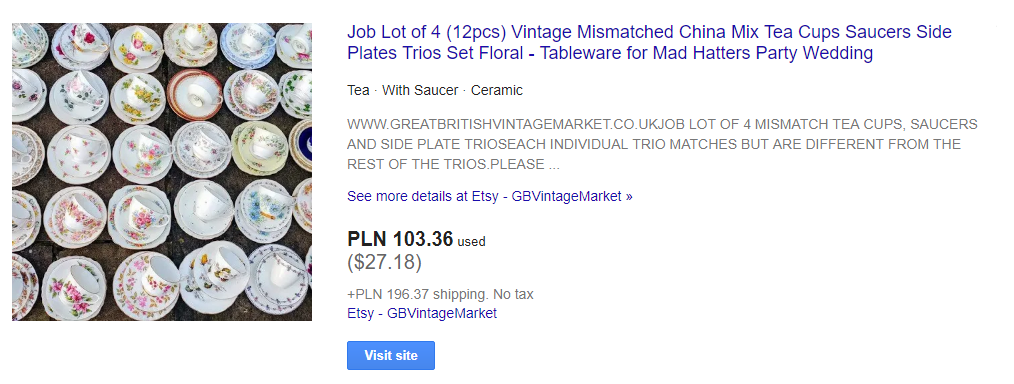 bad product description in Google Shopping